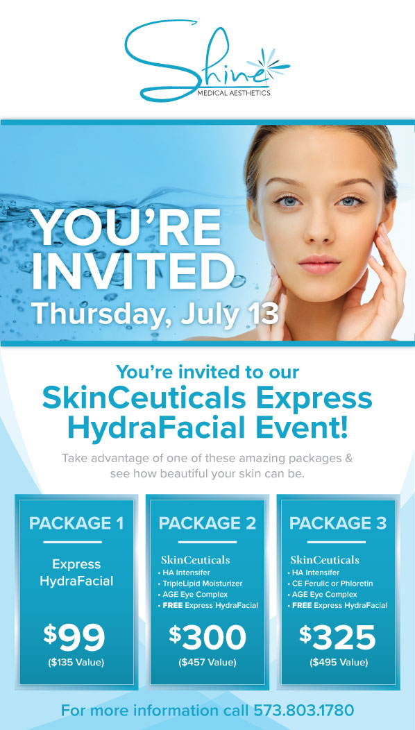 SKINCEUTICALS EXPRESS HYDRAFACIAL EVENT